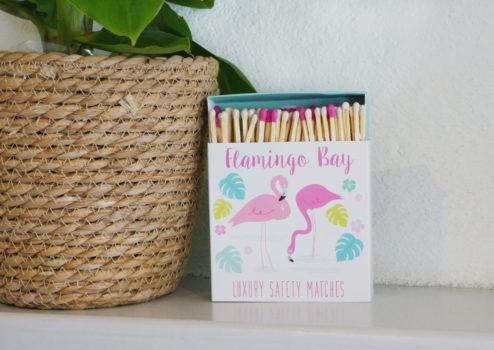 Novelty Safety Matches - Flamingo